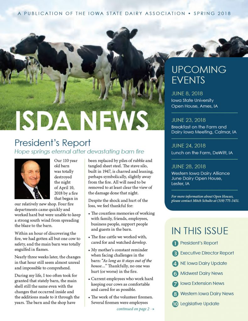 ISDA Newsletter - Spring 2018