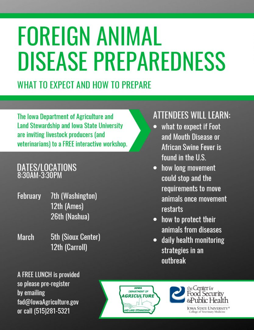 Foreign Animal Disease Preparedness Workshops