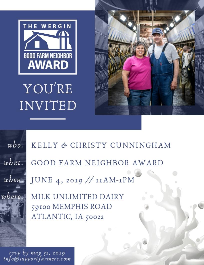 2019 Good Farm Neighbor Award Flyer