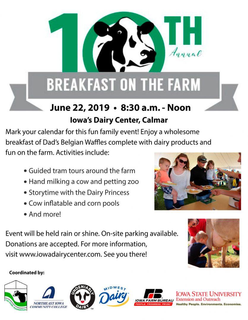 2019 Iowa Dairy Center Breakfast on the Farm