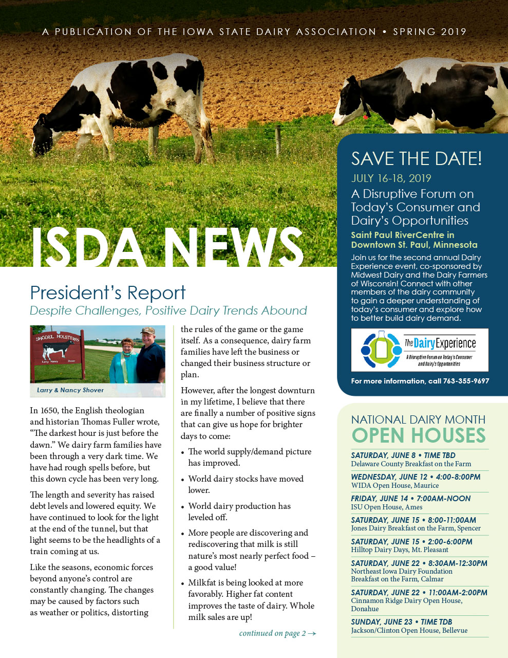 ISDA Newsletter - Spring 2019