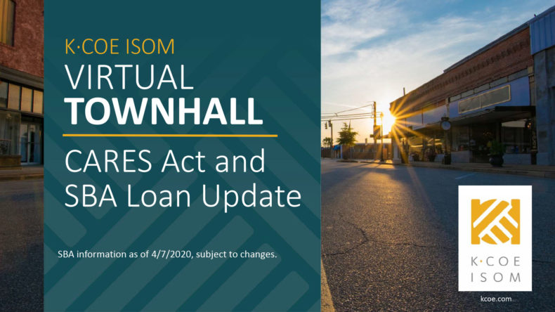 COVID-19 CARES Act SBA Loans